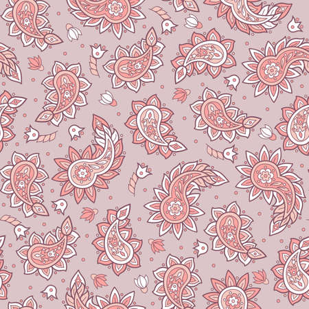 Paisley pattern. Indian style seamless vector ornament Illustration