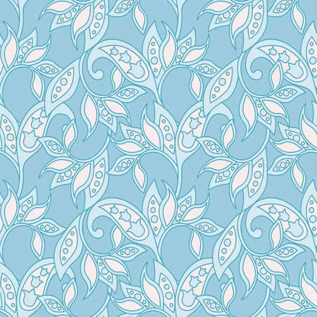 Baroque style floral pattern. Seamless vector background.