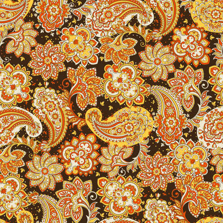 pattern: Seamless Paisley pattern. Floral vector illustration