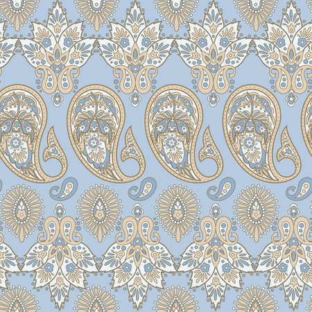 paisley seamless pattern. Indian style vector background