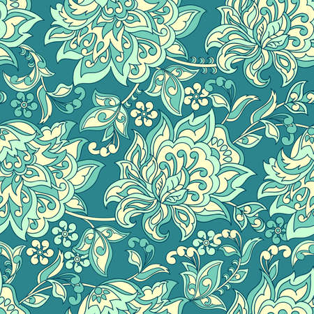 Ethnic Floral seamless pattern. Vector ornament Illustration
