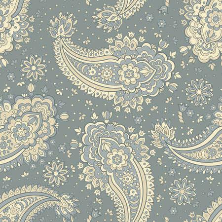 Paisley seamless textile pattern in asian batik style Stock Vector - 80499583