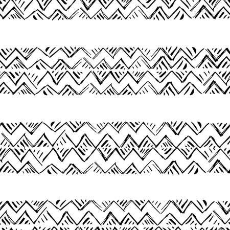 벡터 원활한 패턴입니다. 손으로 그려진 단색 배경