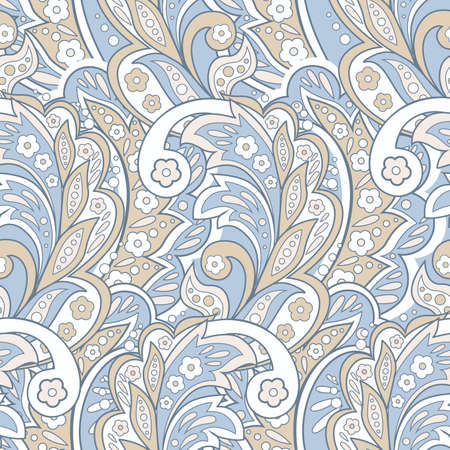 Floral ethnic seamless Pattern. Arabic Ornament. Ornamental motifs of the Indian fabric patterns.