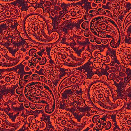 mehendi: Paisley seamless ornament. Vector illustration in Asian textile style