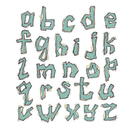 vector letters of latin alphabet Vektoros illusztráció