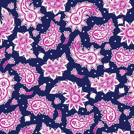 Paisley pattern. Indian style seamless vector ornament Ilustração