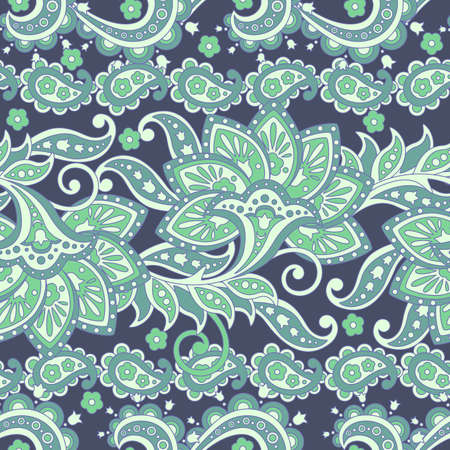 Paisley Floral ethnic seamless Pattern. Arabic Ornament. Ornamental motifs of the Indian fabric patterns.
