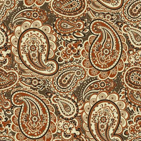 Paisley naadloos patroon. Aziatische stijl vector achtergrond Stock Illustratie