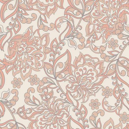 Damask Seamless Pattern. Floral vintage wallpaper 向量圖像