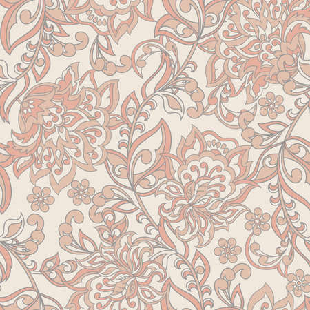 Damask Seamless Pattern. Floral vintage wallpaper Illustration