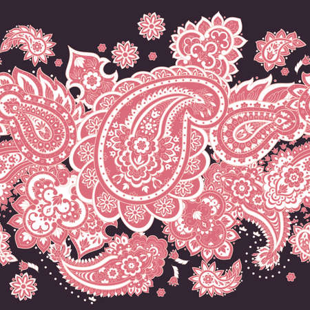 페이 즐 리 원활한 패턴입니다. 벡터 민족 장식