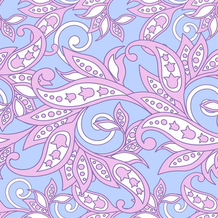 Baroque style floral seamless pattern vector background. Illustration