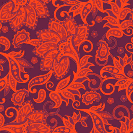 Ethnic Floral pattern in indian style.