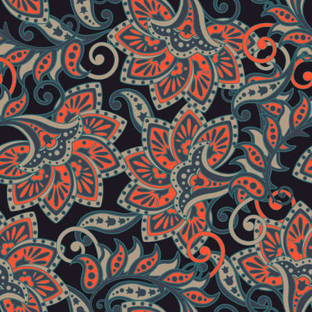 Floral oriental ethnic  pattern