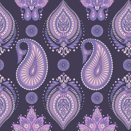 indian teenager: Paisley seamless pattern. Vintage floral wallpaper