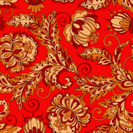 Seamless Floral pattern in Damask Style
