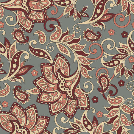 Ethnic Floral seamless pattern in indian style.