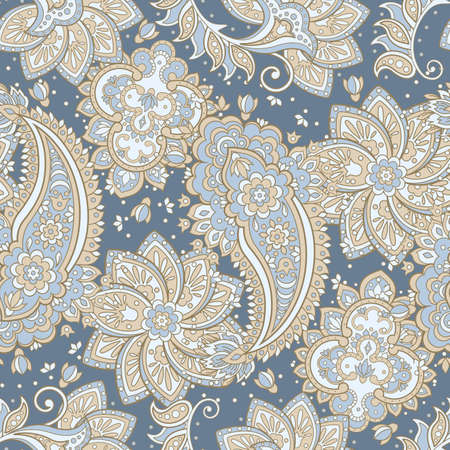 vintage paisley pattern in indian batik style. floral vector background Stock Vector - 85421423