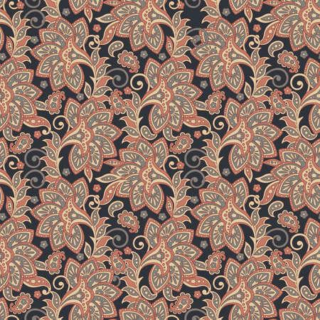 Folklorische Batik bloemen versiering. Etnisch Bloemenpatroon.