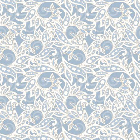 플로랄 블루 패턴 스톡 콘텐츠 - 85500861