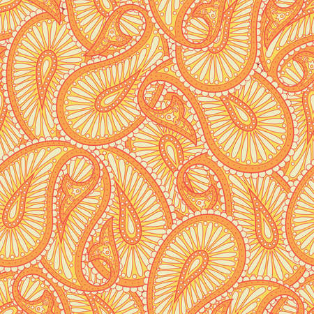 Paisley pattern Asian style Illustration