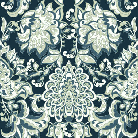 Baroque colorful Vintage Seamless Pattern