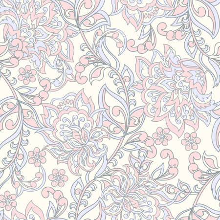 Damask Seamless Pattern. Floral vintage wallpaper.