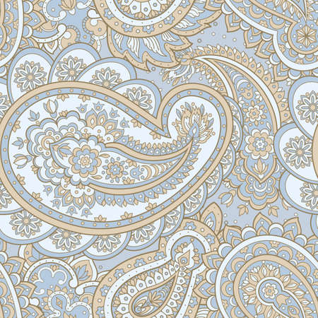 paisley seamless pattern. asian style vector background Illustration
