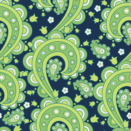 red carpet background: Seamless Paisley pattern. Floral vector illustration