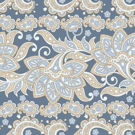 Paisley Floral seamless pattern etnico. Ornamento arabo. Motivi ornamentali dei modelli di tessuto indiano. Archivio Fotografico - 87207963