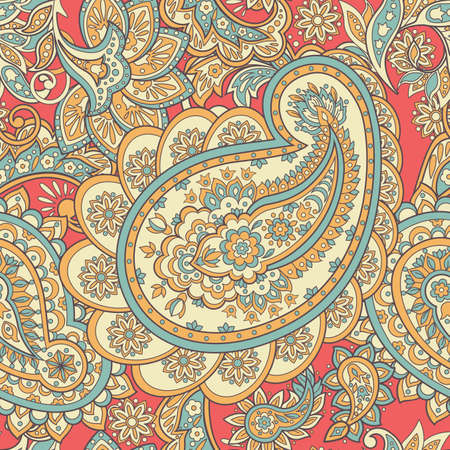 Floral pattern with paisley ornament.