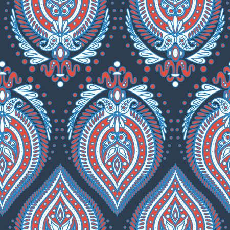 paisley style seamless pattern