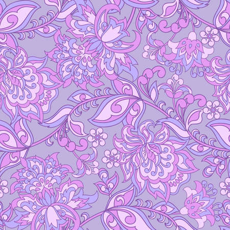 Baroque style floral seamless pattern Illustration