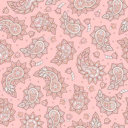 Paisley pattern. Indian style seamless vector ornament Иллюстрация