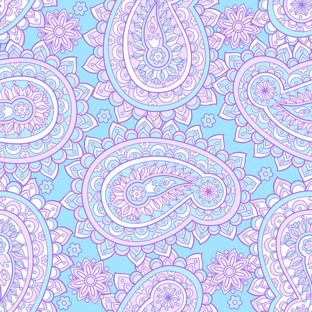 Paisley seamless floral pattern. Asian vintage background