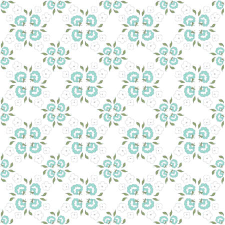 cute floral seamless pattern Illustration