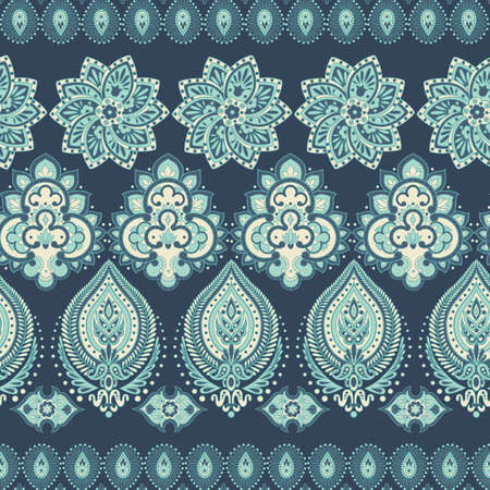 Floral oriental ethnic background. seamless vector pattern