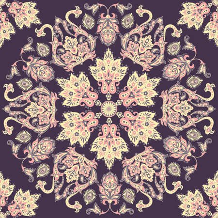 damask floral seamless vector pattern Ilustrace
