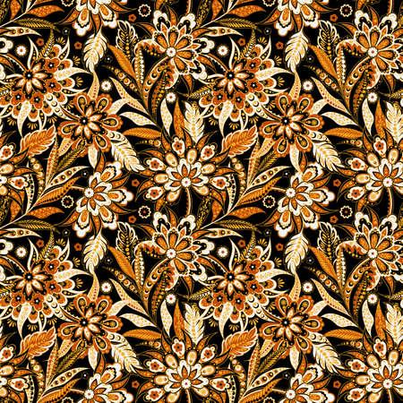 Vintage Vector Floral seamless pattern Illusztráció