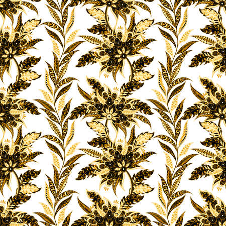 Striped floral  pattern in indian style.