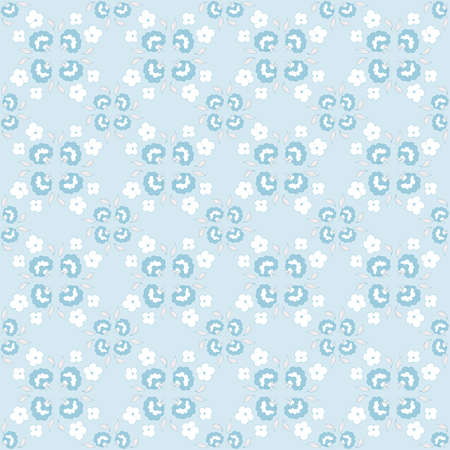 cute floral seamless pattern  Vector illustration. Illustration