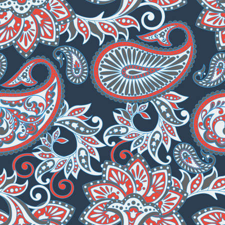 Paisley Floral oriental ethnic Pattern. Seamless Arabic Ornament. Ornamental motifs of the Indian fabric patterns..