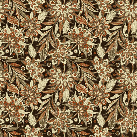 Vintage Vector Floral seamless pattern. Illustration