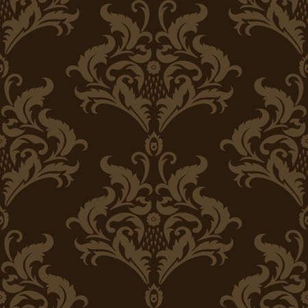 Vector naadloos damastpatroon. Floral vintage achtergrond. Stock Illustratie