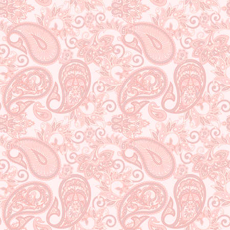 Paisley Floral ornamental Pattern. Seamless Arabic Ornament. Ornamental motifs of the Indian fabric patterns. Reklamní fotografie - 93647686