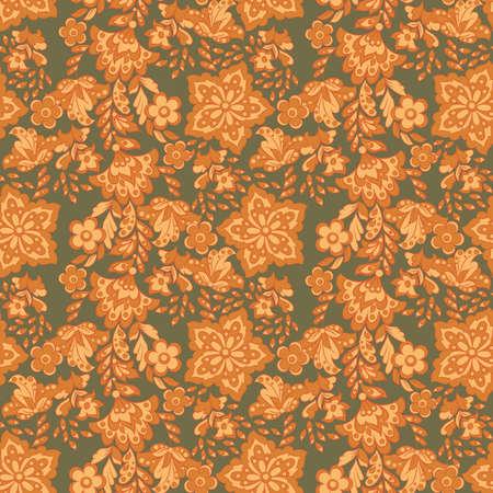 花の壁紙。シームレスなベクトルの背景