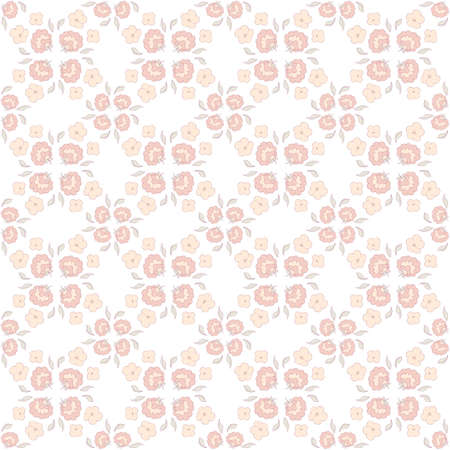 cute floral seamless pattern Vector illustration.