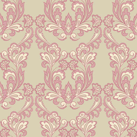 Seamless floral vintage background. Vector background for textile design. Wallpaper, background, baroque pattern 向量圖像