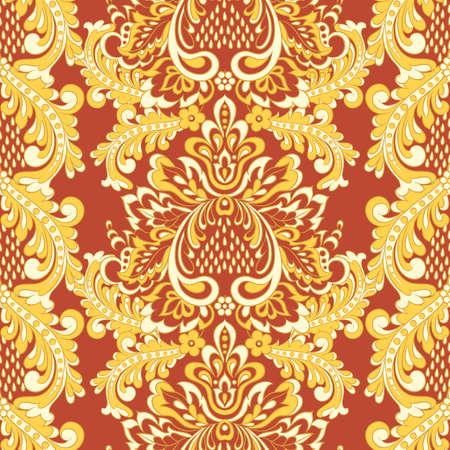 Baroque Seamless Pattern. floral vector wallpaper Illustration